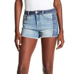 d463074e65 Vigoss Shorts - Vigoss Ace High Rise Colorblock Denim Shorts